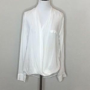 Zara Woman lightweight white wrap top - Size S